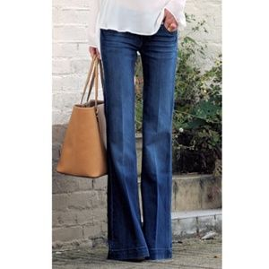 👖Theory Jeans Yalina D Bruges wide leg denim